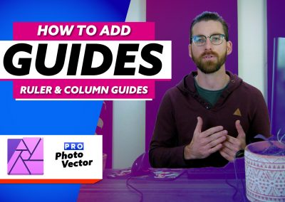How to Add Guides in Affinity Photo   Ruler & Column Guides