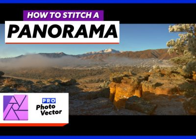 How to Stitch a Panoramic Photo in Affinity Photo